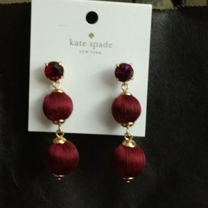 KATE SPADE RUBY RED SCARLET DROP EARRINGS BNWT!